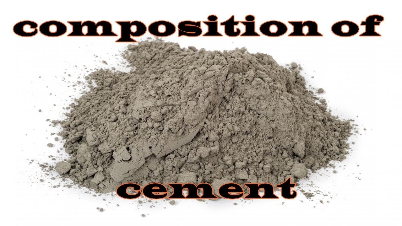 Composition of cement