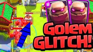 GLITCH! Clash Royale WRONG WAY Golems!