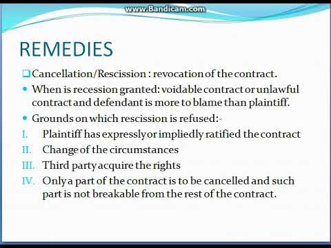 Remedies For Breach Of Contract  Business Law  Youtube