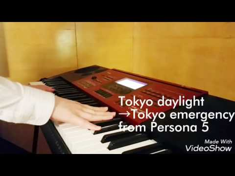 [Persona5]Tokyo daylight →Tokyo emergency medley [piano cover]