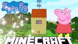 Peppa in Minecraft Update || Building a garage, car & backyard || Minecraft 1.13.2