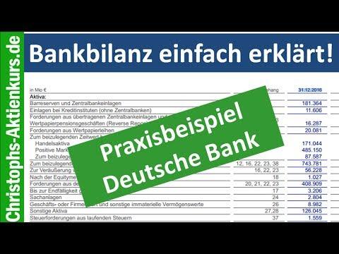 Wie liest man eine Bankbilanz? Erklärt am Beispiel Deutsche Bank