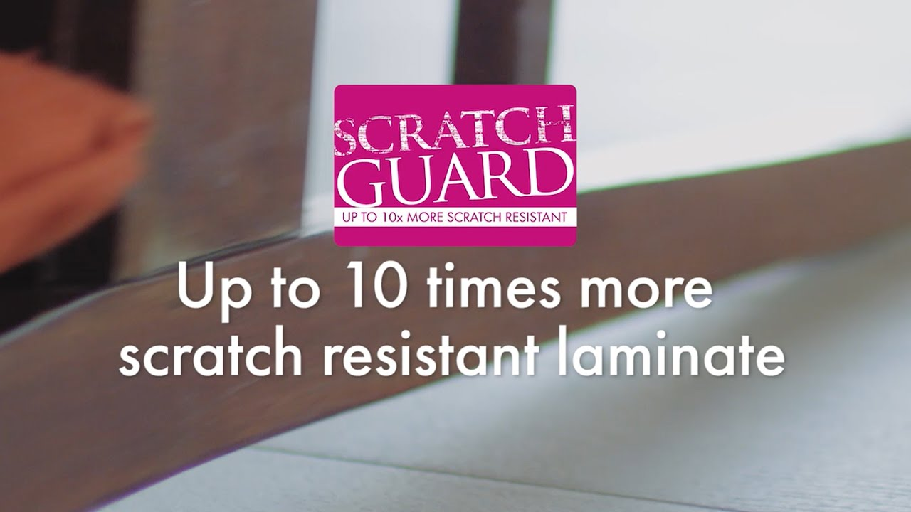 Up to 10 times more scratch resistant laminate   Quick ...