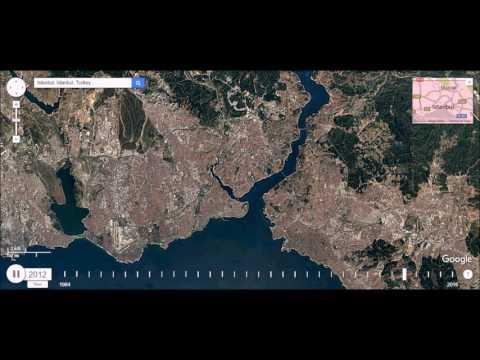 Istanbul, Turkey  - Urban Sprawl Time Lapse