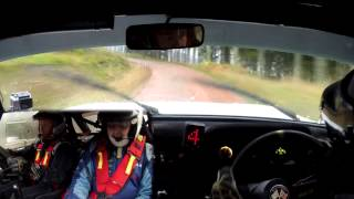 2014 Colin McRae Forest Stages Rally - stage 01 - Mk2 Escort - Scott Kerr/Michael Cruikshank