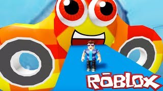 Roblox ESCAPE THE UGLY SHARK OBBY! - THE MEGALADON SHARKS Are After Me!