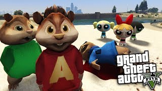 GTA 5 Mods - ALVIN AND THE CHIPMUNKS VS POWER PUFF GIRLS MOD (GTA 5 PC Mods Gameplay)