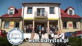 Spot telewizyjny promujący Wyższą Szkołę Menedżerską w Białymstoku