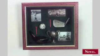 Antique English Display Case Wall Plaque With Golf Driver