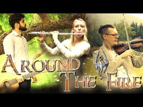 Skyrim  Around the Fire   Bevani flute, Ignis & One Violin Band