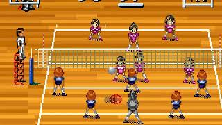 Multi Play Volleyball Japan FROM SNES SUPER NES HYPERSPIN NOT MINE VIDEOS