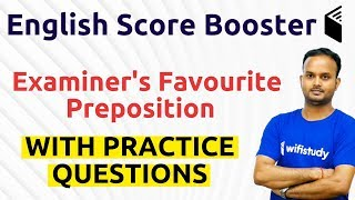 10:30 AM - English Booster by Sanjeev Sir   Examiner's Favourite Preposition