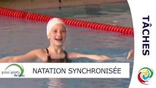 Les tâches en natation synchronisée - PASS'SPORTS DE L'EAU