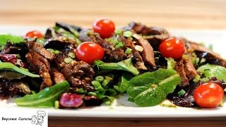 Горячий салат с говядиной
