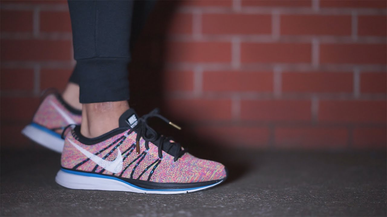9a675ccbf14e2b Nike Flyknit Trainer  Multicolour  On Feet - YouTube