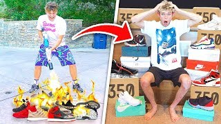 Destroying Roomates Shoe Collection & SURPRISING Him With a New One
