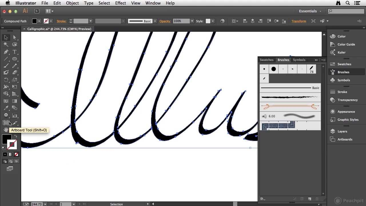 Creating A Calligraphic Brush In Illustrator Cc Youtube