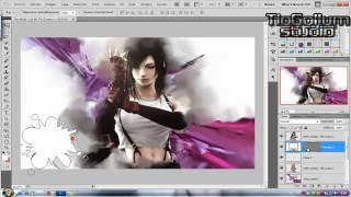 Wallpaper Final fantasy photoshop [speed art]