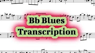 Bb Blues Solo Transcription (Bb Instruments)