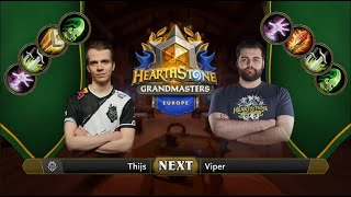 Thijs vs Viper | 2021 Hearthstone Grandmasters Europe | Top 8 | Season 1 | Week 2