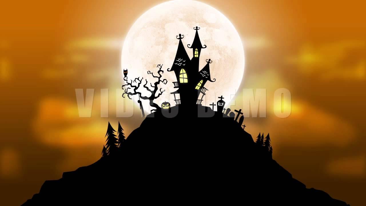 Halloween Motion Background Animation Loop - YouTube