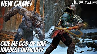 God of War 4 NG+ Ogre Yeti Boss Fight (GMGOW Difficulty) GoW 2018