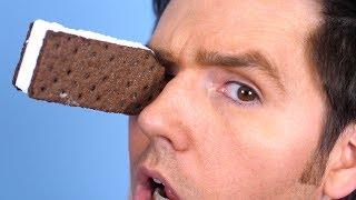 Ice Cream Sandwich In Eye!