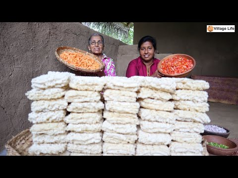 100 Noodles Recipe By Grandma And Daughter ❤ Village Life