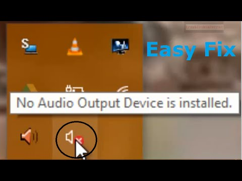 how to fix 39 no audio output device is installed 39 error showing in volume icon speakers windows. Black Bedroom Furniture Sets. Home Design Ideas