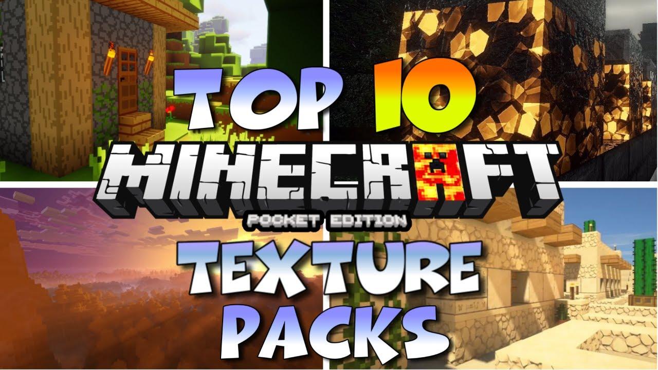 MCPE 1.16 TOP 10 BEST TEXTURE PACKS - TOP 10 BEST WORKING TEXTURE PACKS MINECRAFT PE 1.16