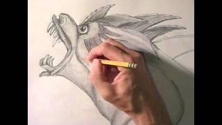How To Draw A Horrifying Alien Bear Monster!