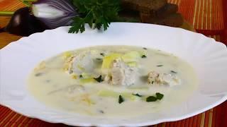 Сырный суп с курицей,вкусный и легкий.  Простой рецепт