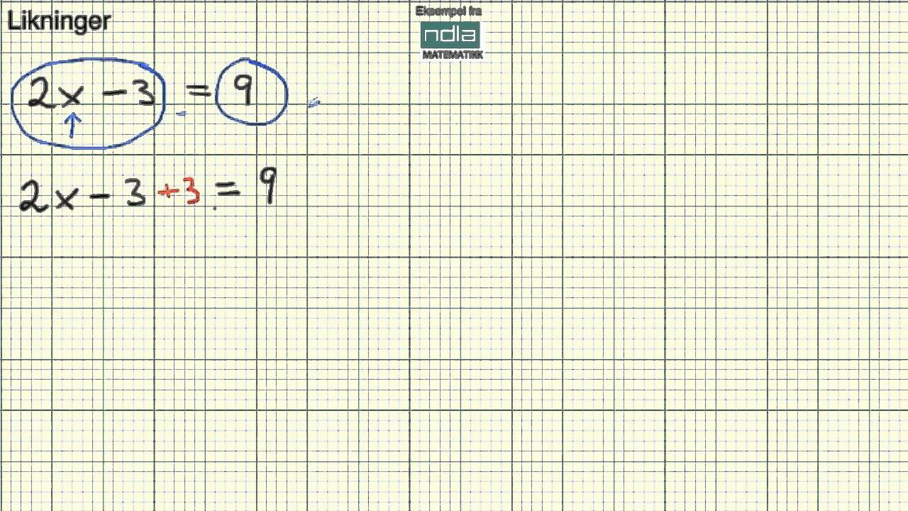 Matematikk 1P   Likninger