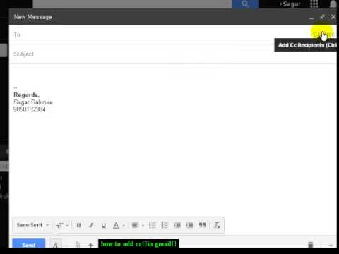 how to add cc in gmail