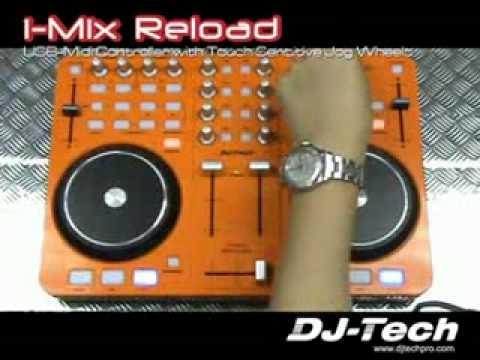 DJ-Tech I-MIX RELOAD Orange Portable USB DJ Mixer & Scratch Controller