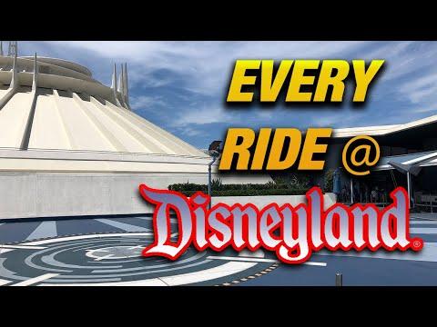 Every ride at Disneyland