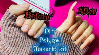 Makartt Polygel kit Amazon| DIY and unboxing |nude Colors
