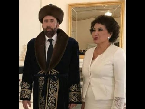 Bizarre photo of Nicolas Cage in visit to Kazakhstan gets the meme treatment