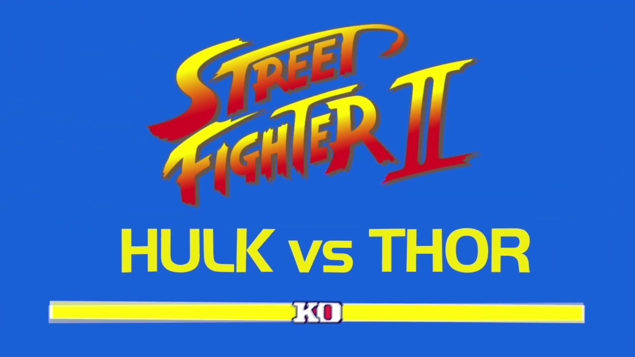 Hulk vs Thor with healthbars FILTERED
