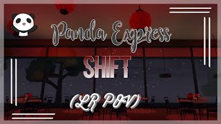 LR POV || Panda Express Shift || ROBLOX