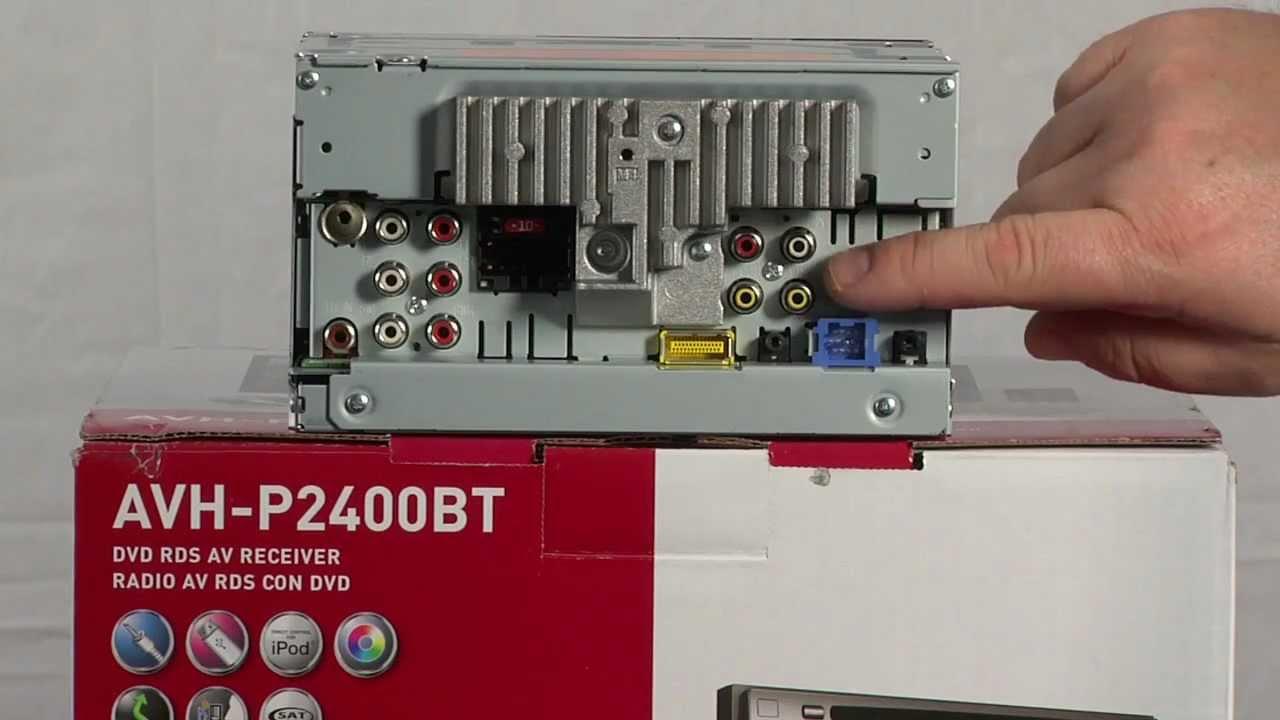 AVH-P2400BT - 2-DIN Multimedia DVD Receiver with 5.8
