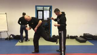 Release vs a Rear Choke, with Amnon Darsa at Institute Krav Maga Netherlands.