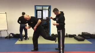 Release vs a Rear Choke, with Amnon Darsa at Institute Krav Maga Netherlands.