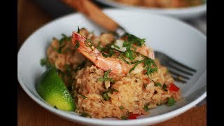 Andrew Zimmern Cooks: Asopao with Chicken and Shrimp