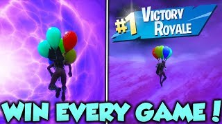 Win EVERY GAME Stay In The Sky FOREVER FORTNITE GLITCH! - WIN EVERY GAME FORTNITE GLITCH!
