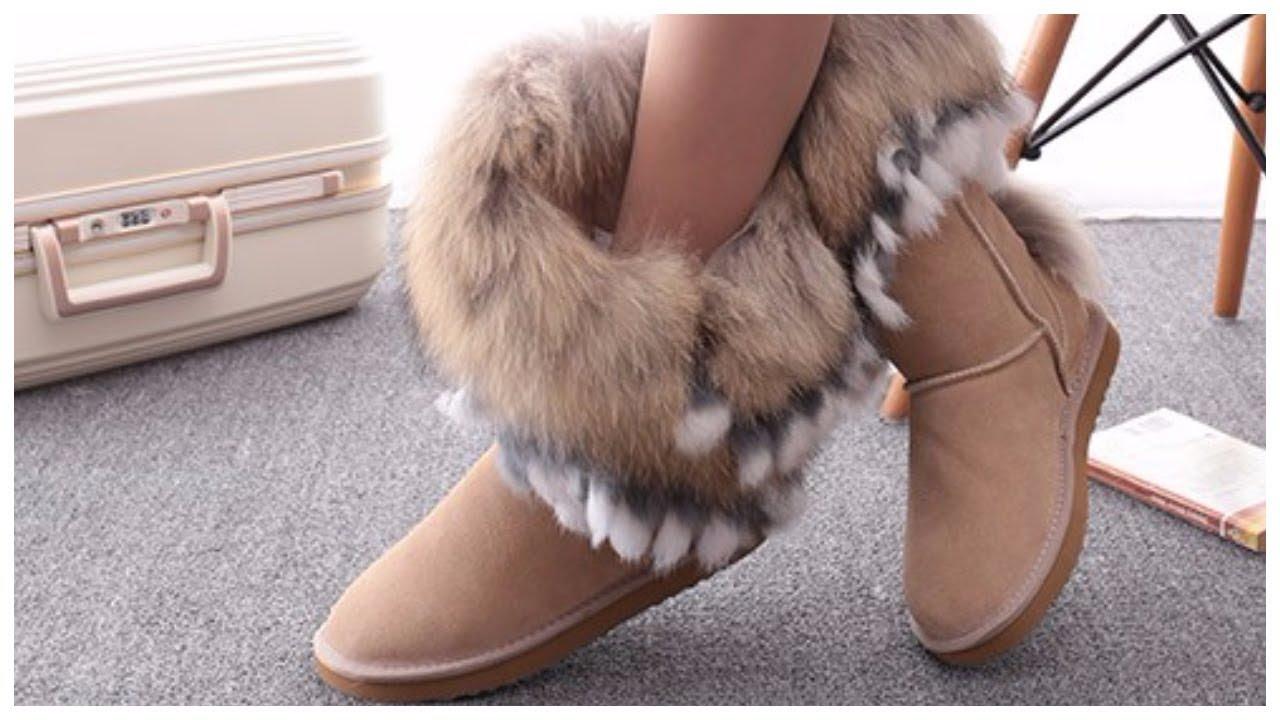 674b59106 Зимняя женская обувь - удобные угги из замши с aliexpress - YouTube