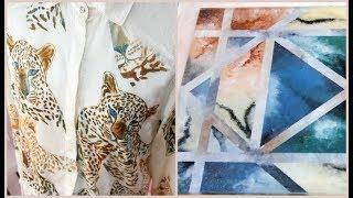 ManosalaObraTv Programa 52 - Camisa Sublimada - Falsos acabados sobre vidrio - Oleo