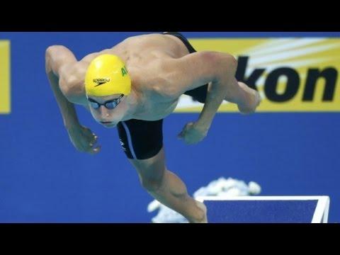 "Cameron McEvoy swim like ""at the bench"" , 38  strokes, zero breaths"