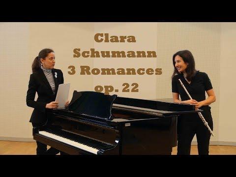 Clara Schumann, Three Romances, Op. 22, flute and piano