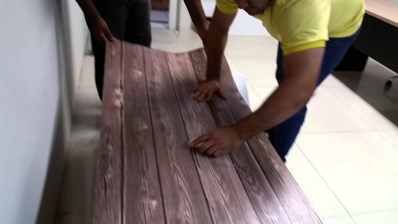 Adesivo De Natal Para Imprimir ~ Aplicaç u00e3o de Adesivo imprimax texturizado madeira YouTube